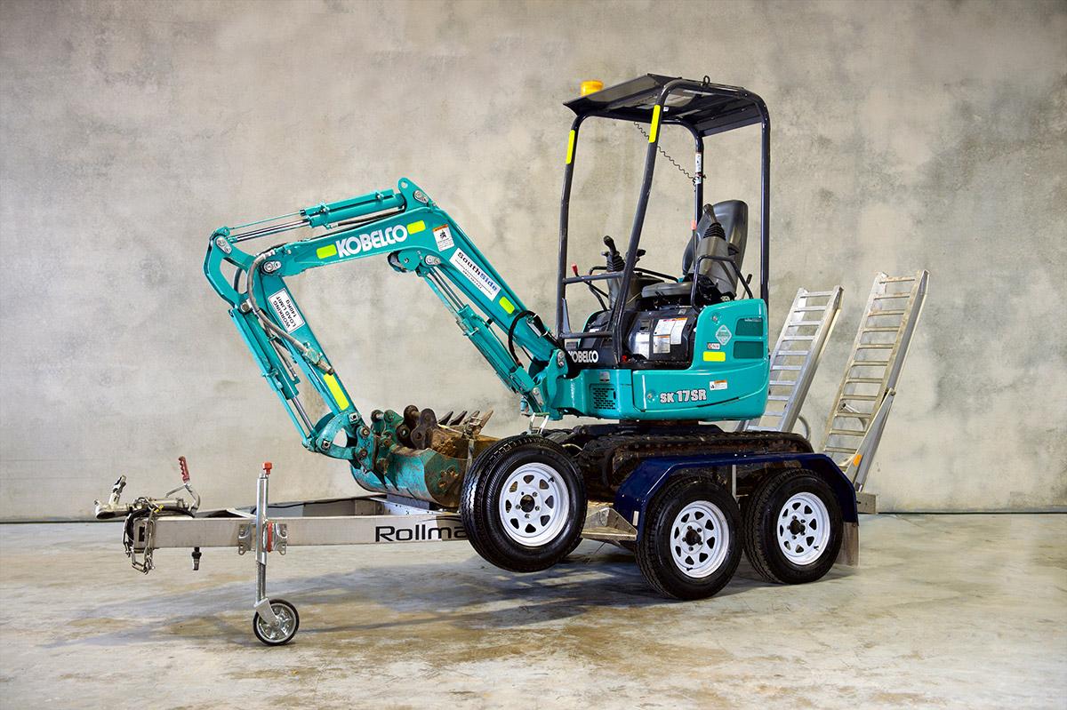 Mini Excavator Hire 1t - 3.4t