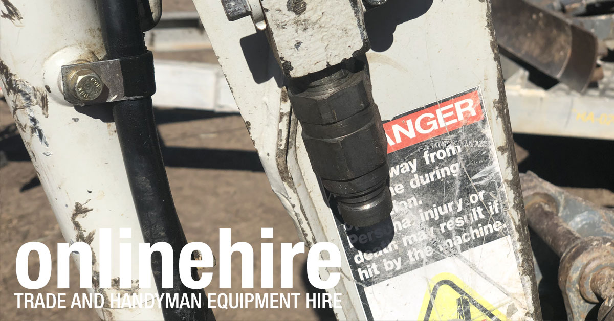 At Online Hire our 1.5 tonne mini excavators can have auger power heads or breakers attached.