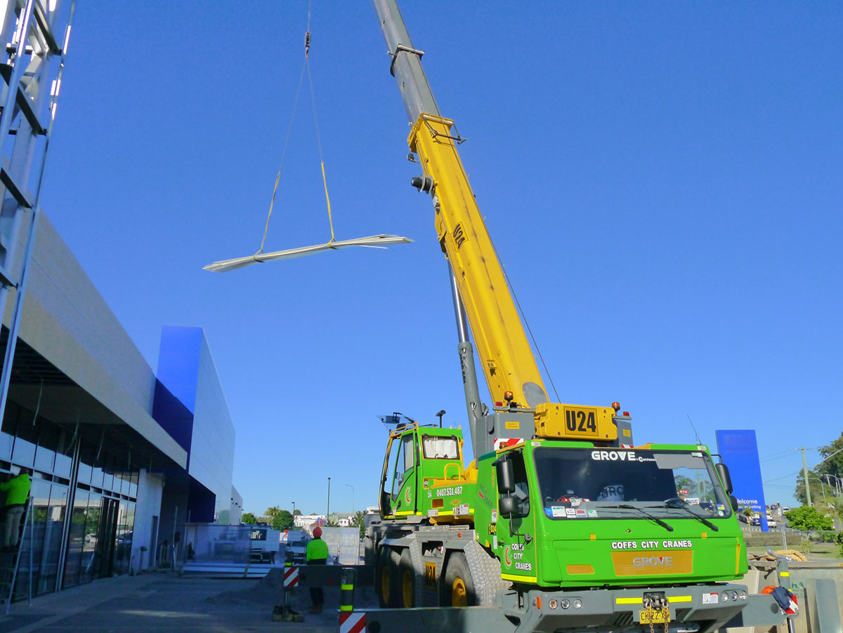 110T Tandano Faun All Terrain Crane Hire Coffs Harbour