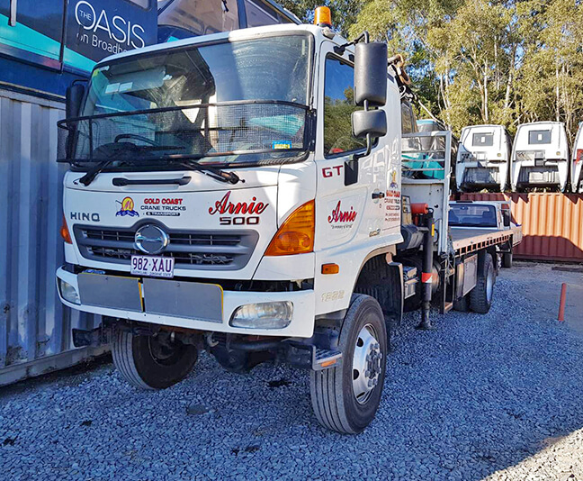 Gold Coast Crane Trucks Arnie Crane Nerang