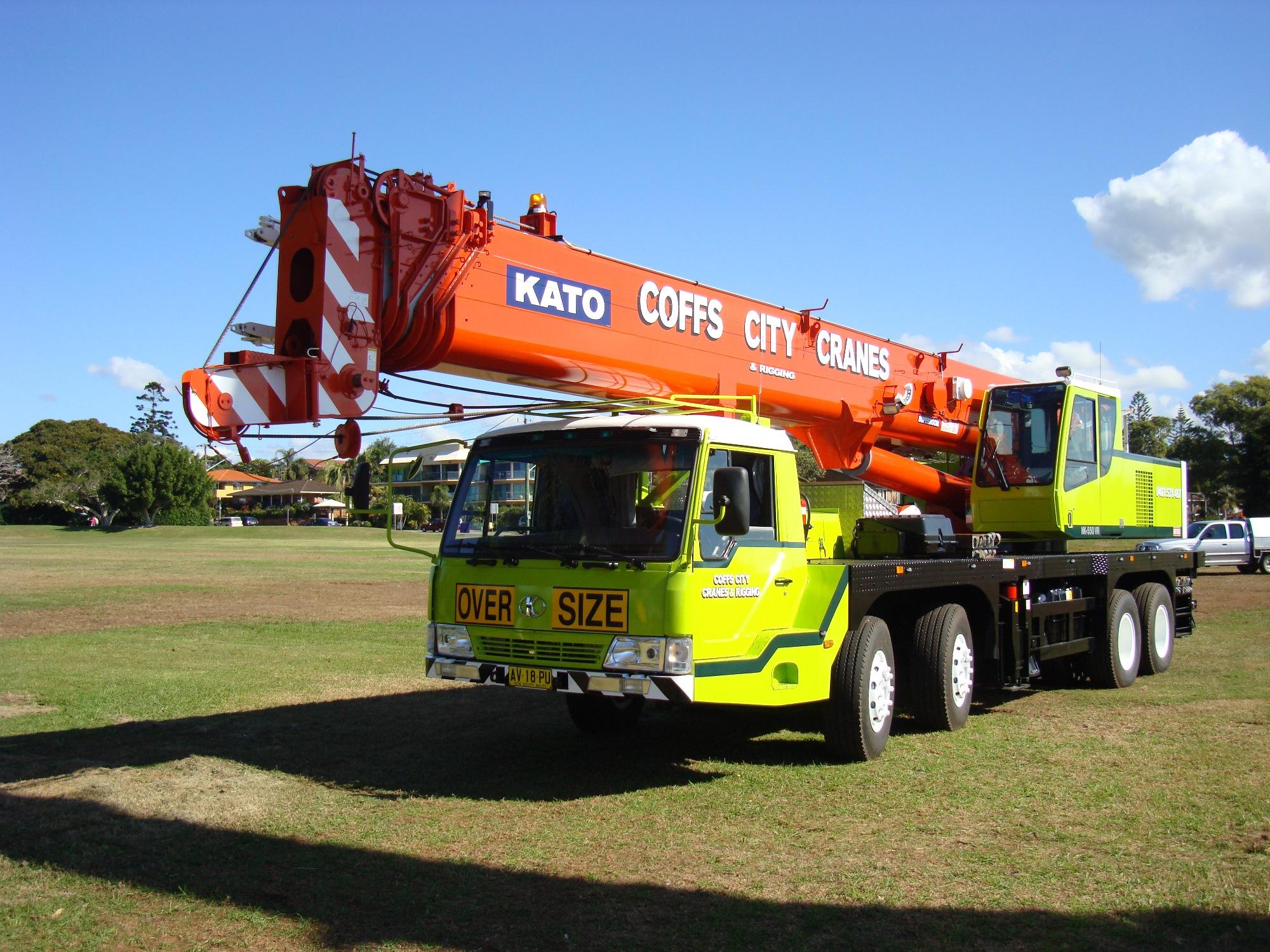 Kato 55T Truck Mounted Crane Hire Coffs Harbour