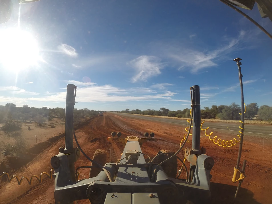 Fivestar Earthmoving view from the graders drivers seat