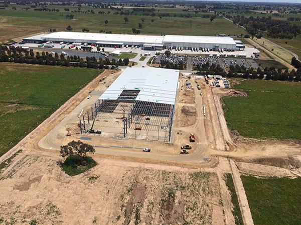 A-P-Delaney-Civil-Construction-Shed-Construction-Aerial-Albury