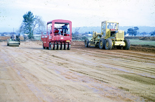 A-P-Delaney-Early-Years-Roller-Grader-Onsite-roller-compactor-hire-albury