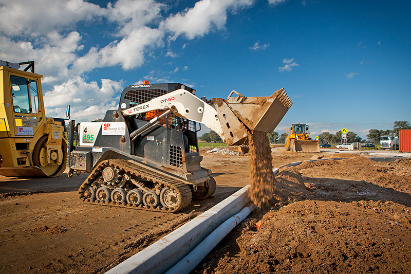 A-P-Delaney-PT50-Logic-Skid-Steer-Hire-civil-construction-albury