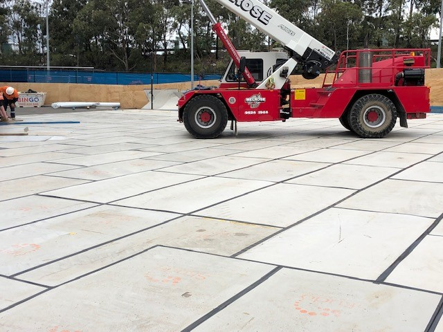 Honcho Chief Board Protecting outer tennis courts on Sydney Tennis Centre Project