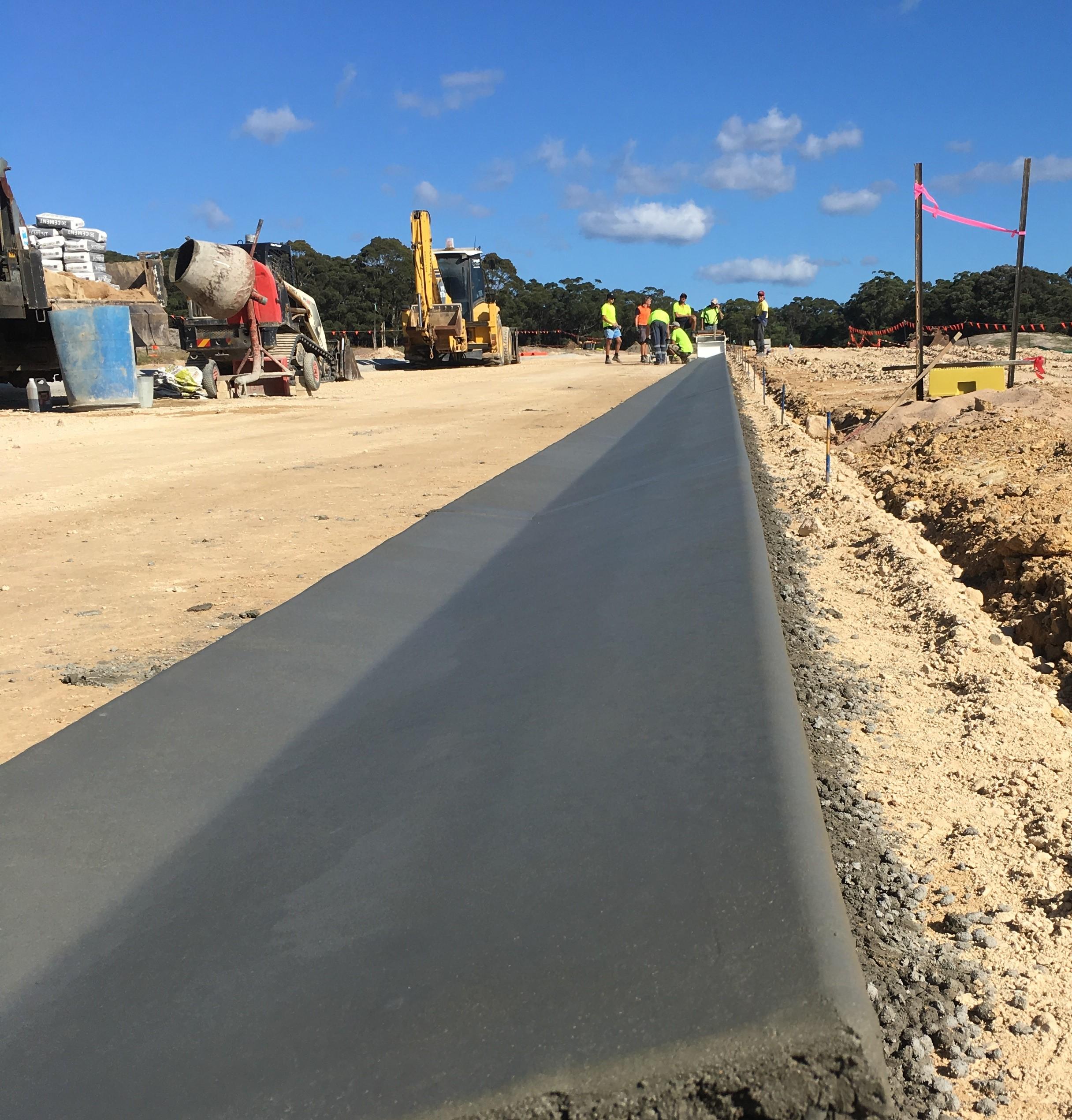 Armpell-Civil-Volvo-excavator-driveway-construction-Batemans-Bay