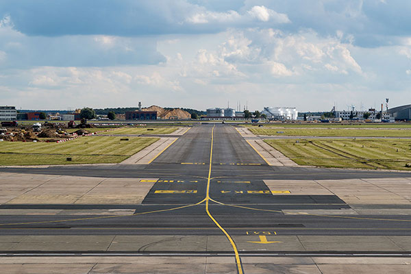Airpory runway outback