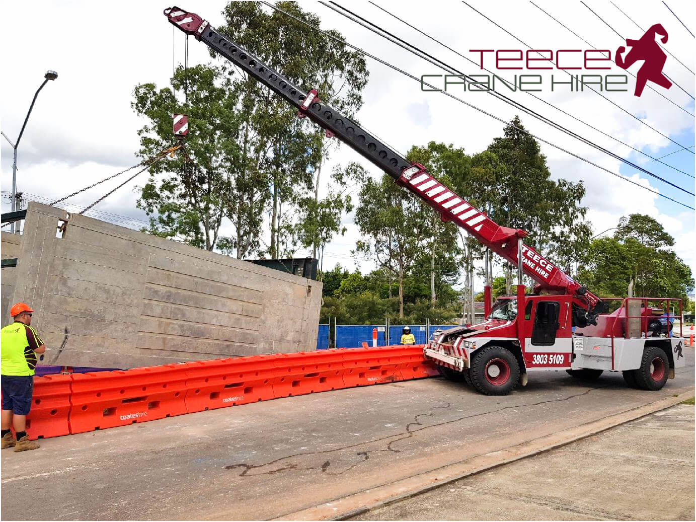 Teece Crane Hire - Hire On Site Constructing Townhouses In Brisbane 2 - Brisbane