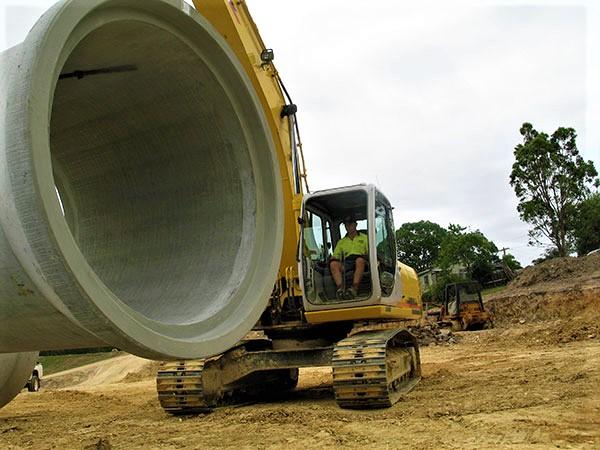Armpell-Civil-Industrial-Park-construction-stormwater-pipe-Eurobodalla