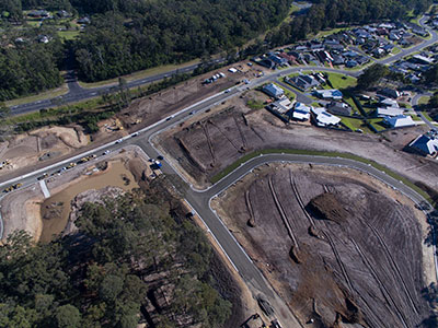 Armpell-Civil-aerial-drone=subdivision-contracting-Batemans-Bay