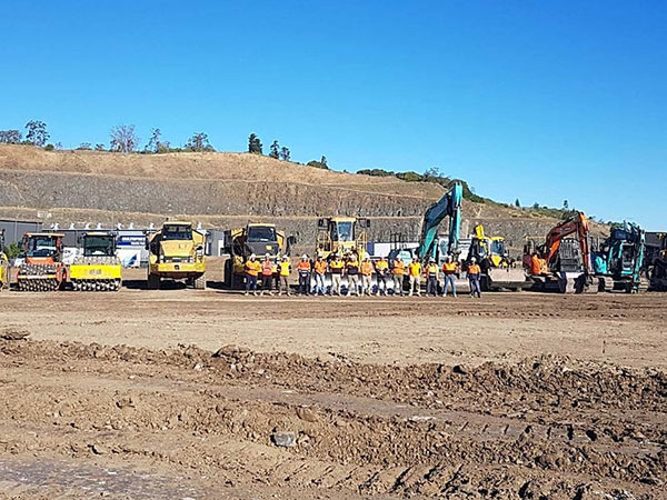 Attcall Civil Contractors with a fleet of excavators, dozers, compactors and more for drainage solutions throughout NSW
