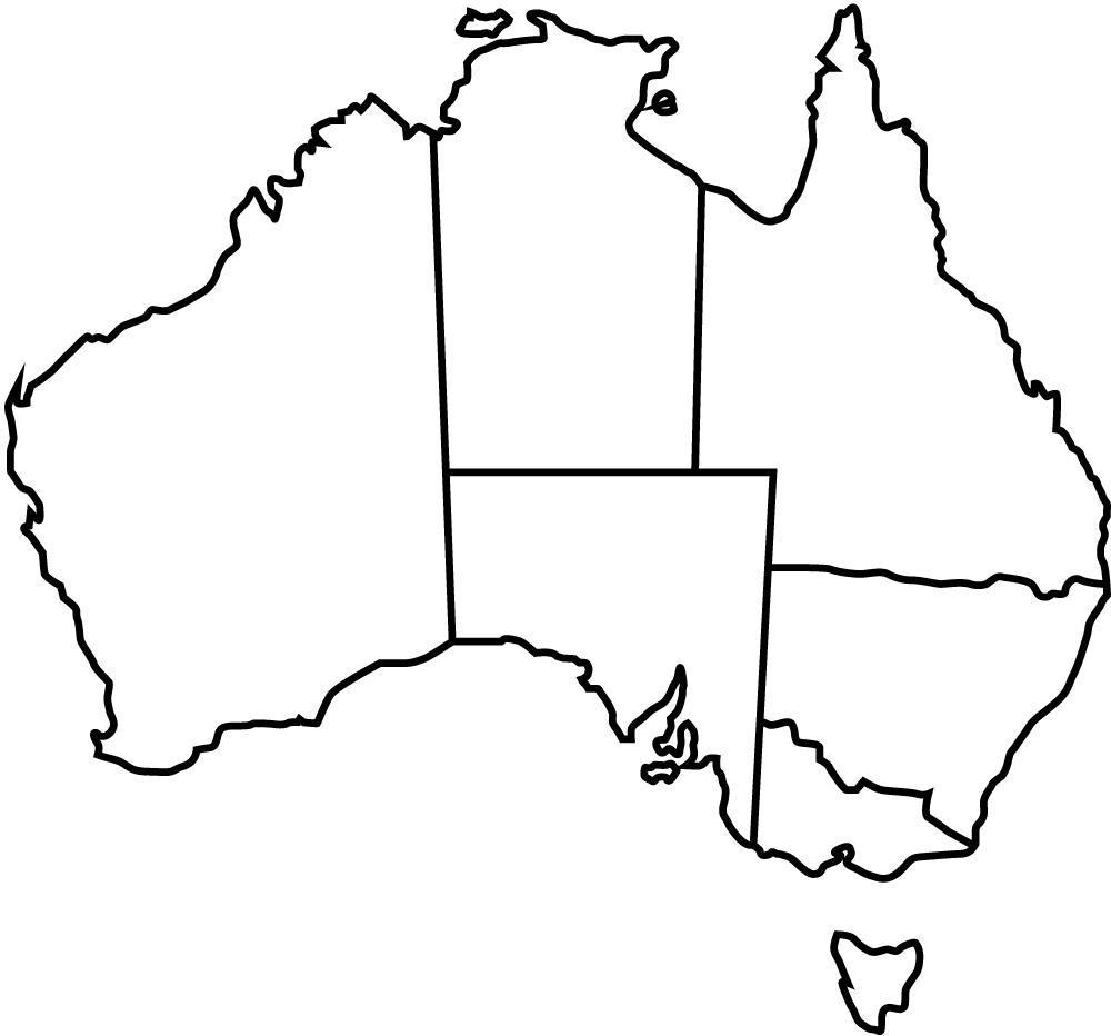 Australia-Map-Black-Outline
