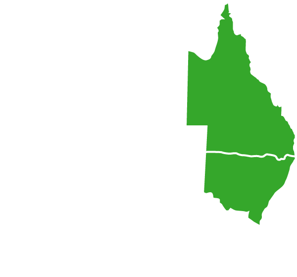 Australia-Map-White-Outline-QLD-NSW-Green-civil-contractor-kempsey