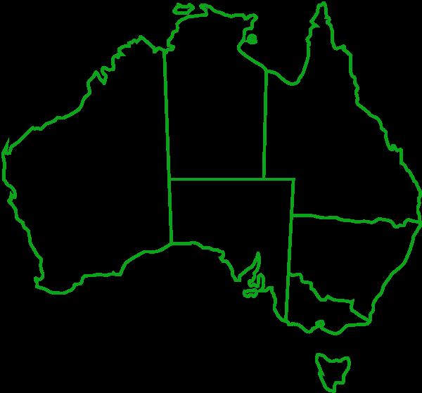 Australia-map-green
