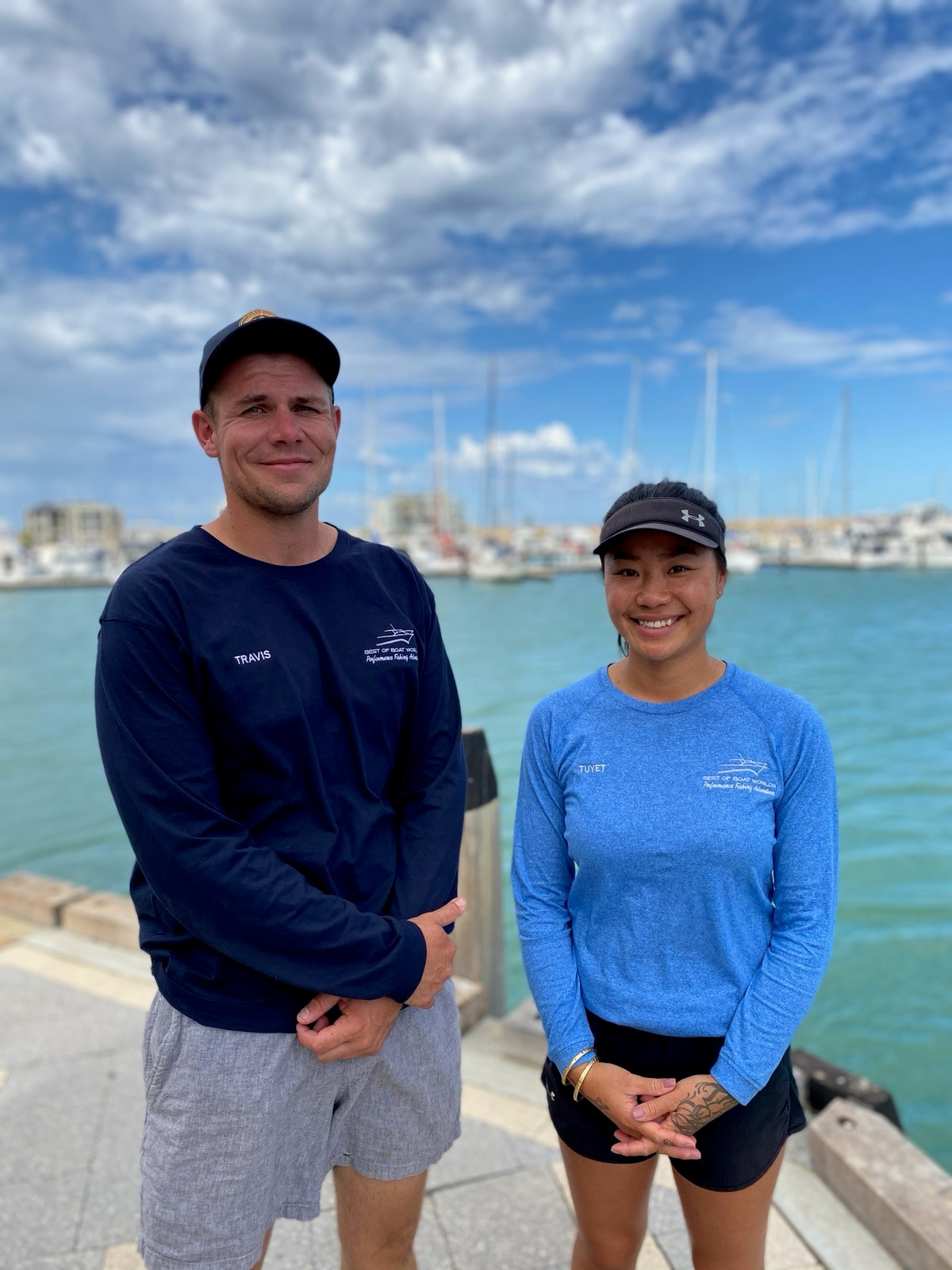 Travis & Tuyet, your crew on Best of Boat Worlds fishing charters