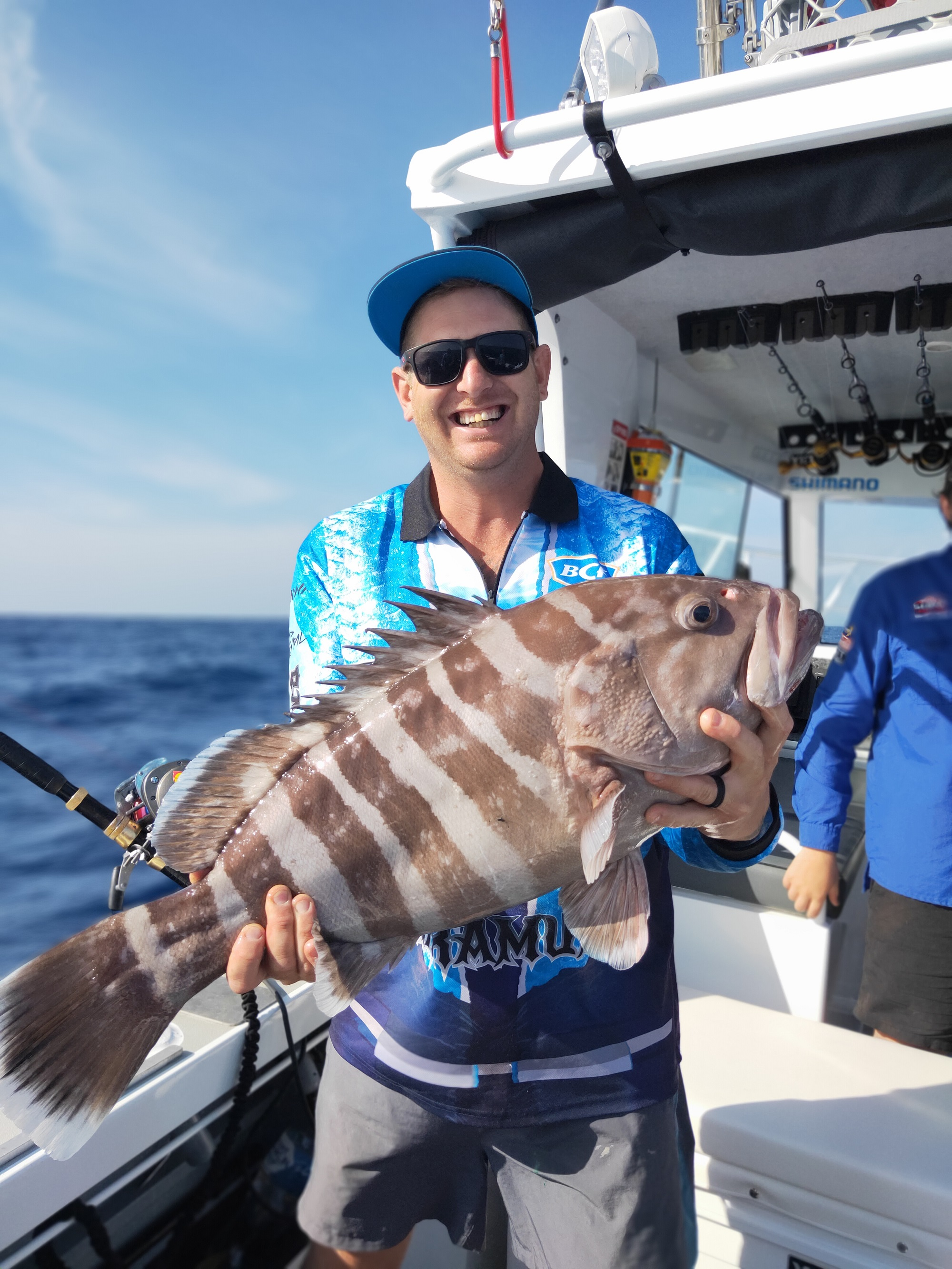 Groper catch on Best of Boat Worlds fishing charter