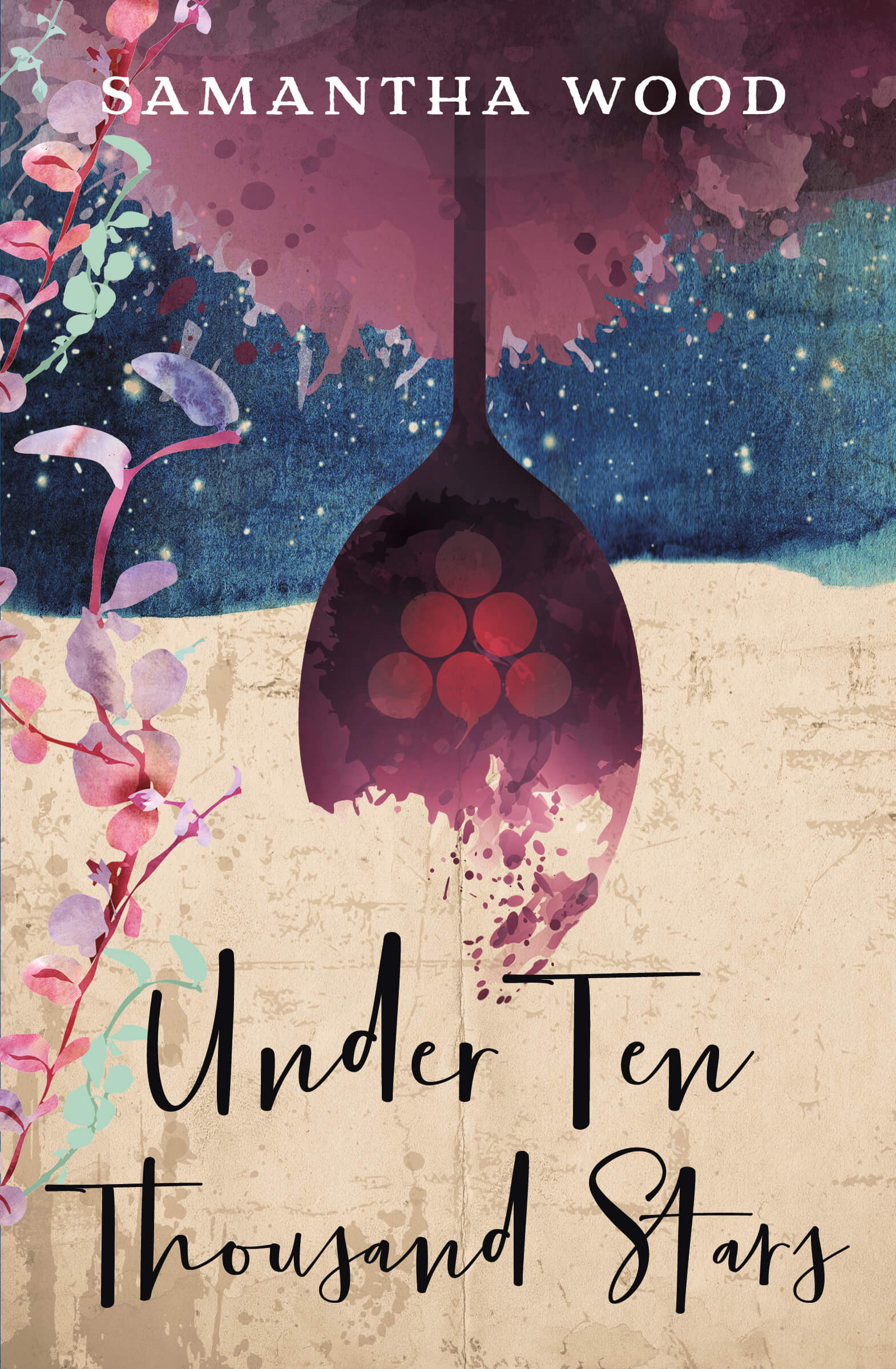 Under Ten Thousand Stars by Samantha Wood. Cover Design, Christabella Designs.