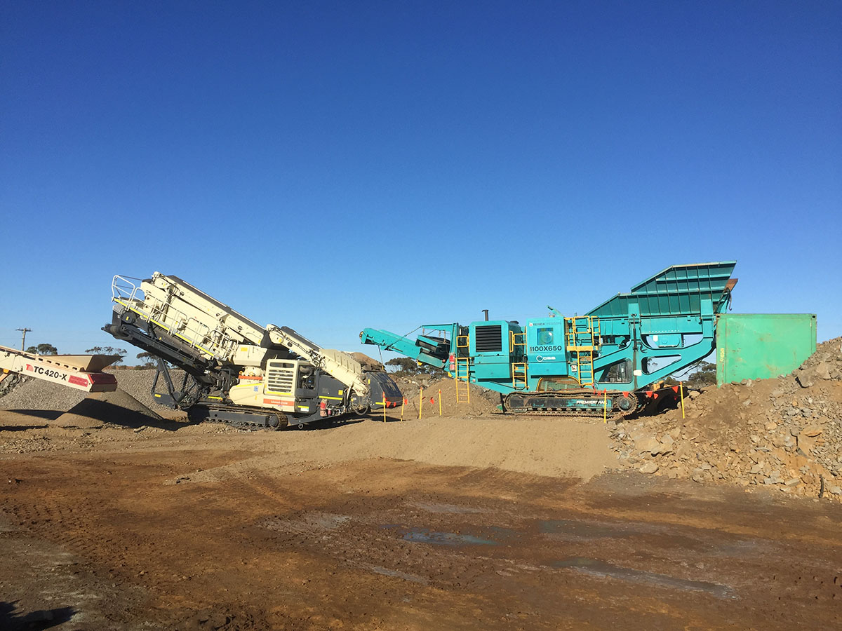 Crushing Service Solutions - Mobile Jaw Hire - Premier Track Jaw
