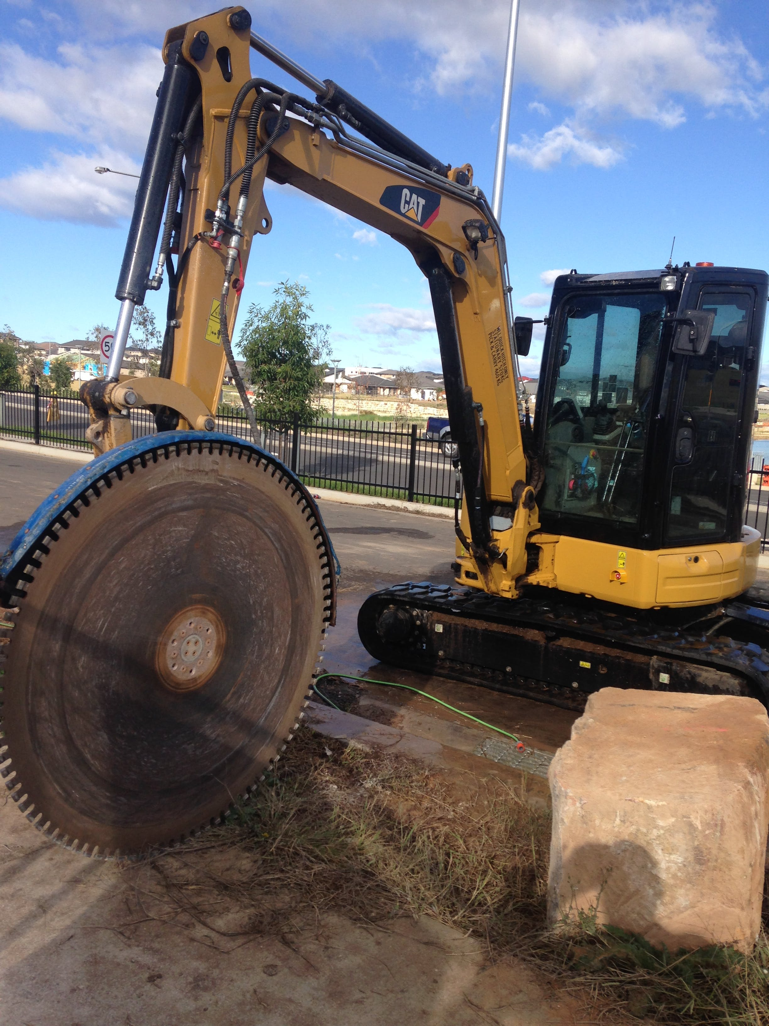 DJK Excavations - 5 tonne excavator and rock saw for hire