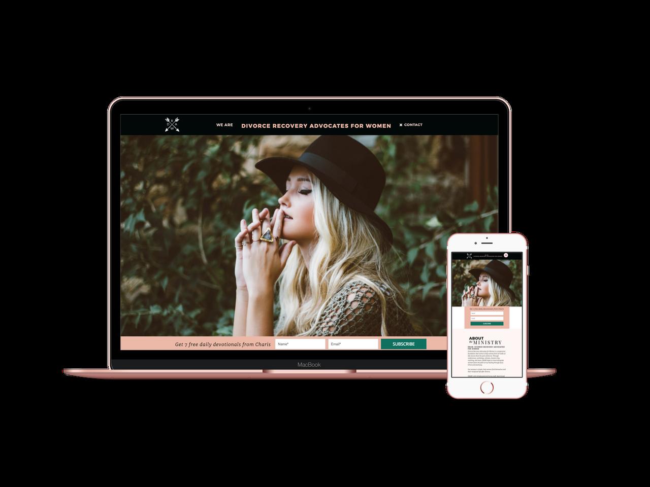 She Creates Websites for Christian Creatives - Portfolio - DRAW 4 Women - Charis Rooks
