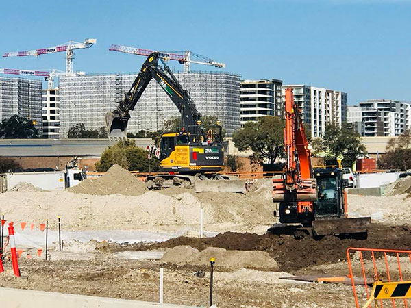 Detailed-Excavations-Excavator-on-site-volvo-kubota-Sydney