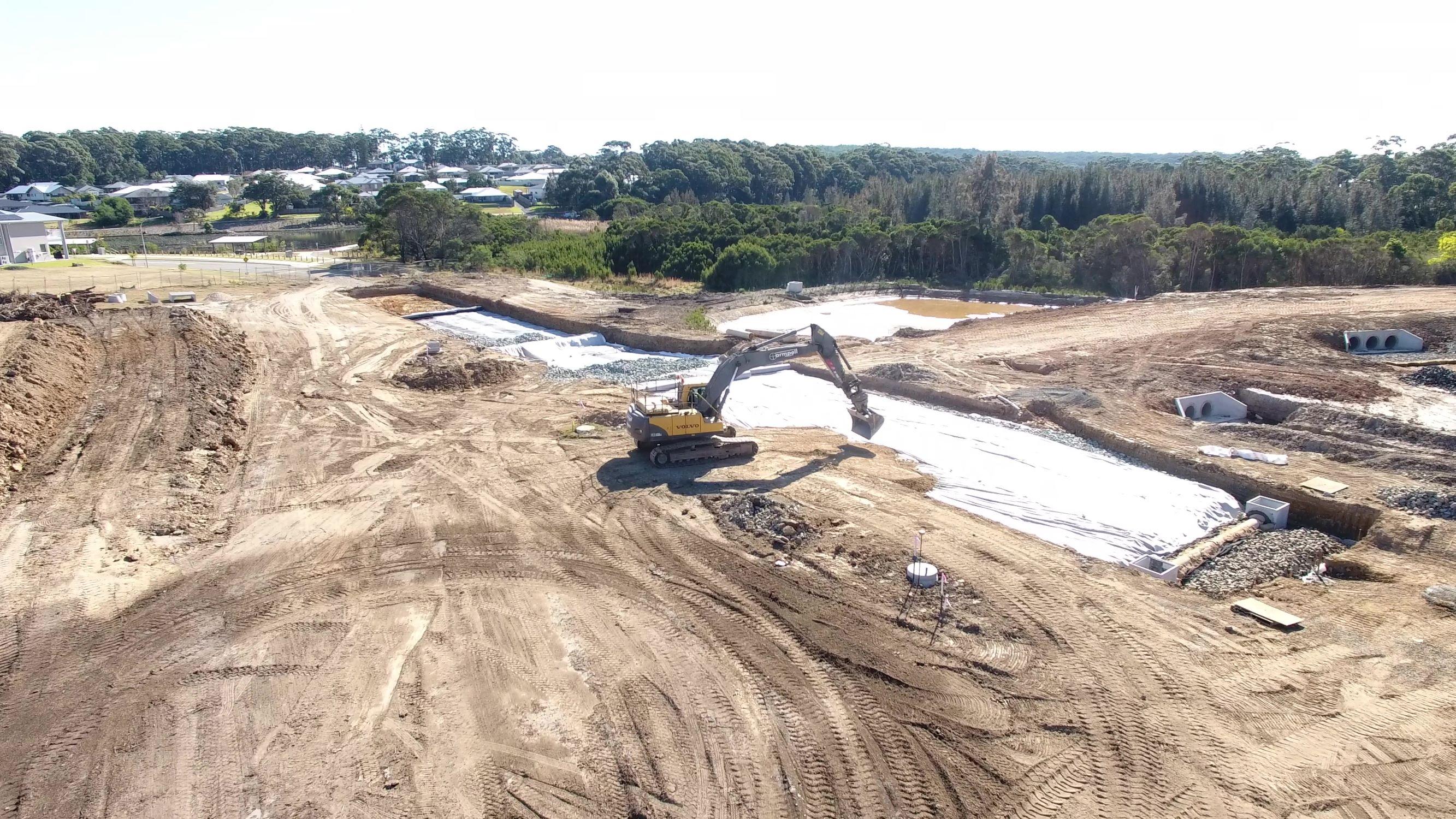 Armpell-Civil-Drone-aerial-road-works-Batemans-Bay
