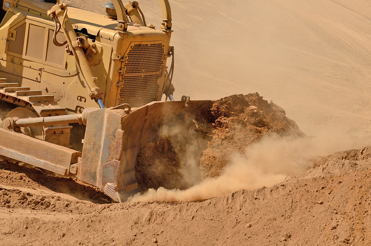Dozer---quarrying---excavating-top-soil