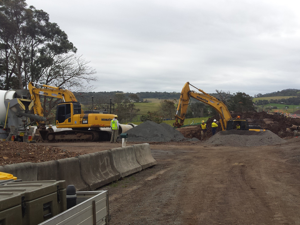 Earthmoving Excavators digging