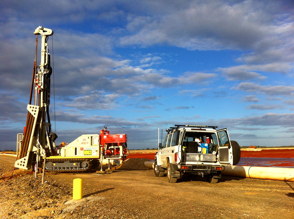 Hinterland-Drilling-Environmental-Drilling-Red-Mud-Dam