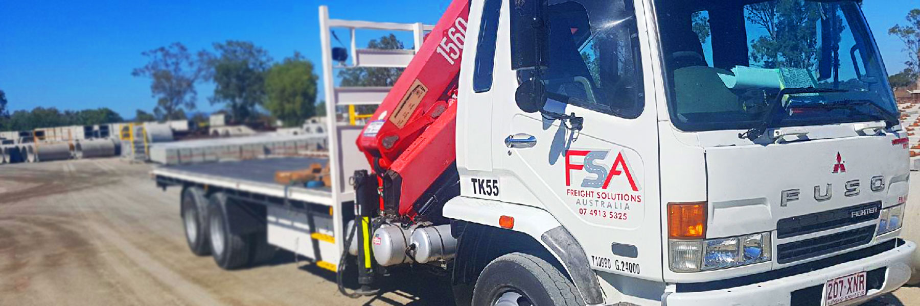 Freight Solution Australia crane truck 3