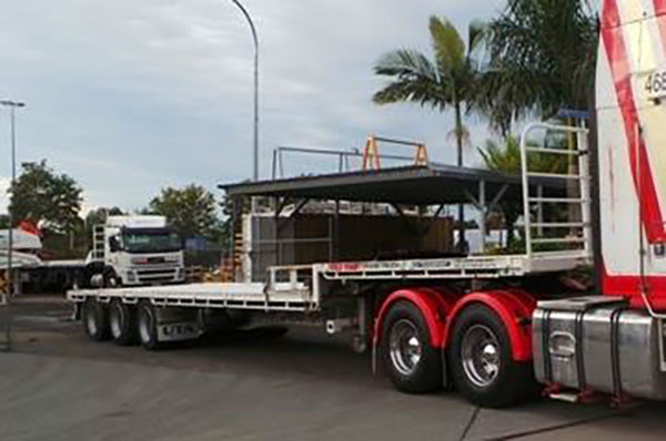 Gold Coast Crane Trucks Drop Deck Trailer Nerang