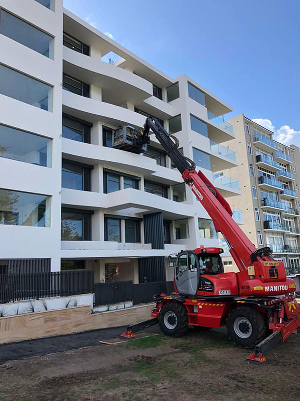 Hi-Range-Crane-Hire-Telehandler-Hire-MRT-2540-platform-tight-access-services-campbelltown