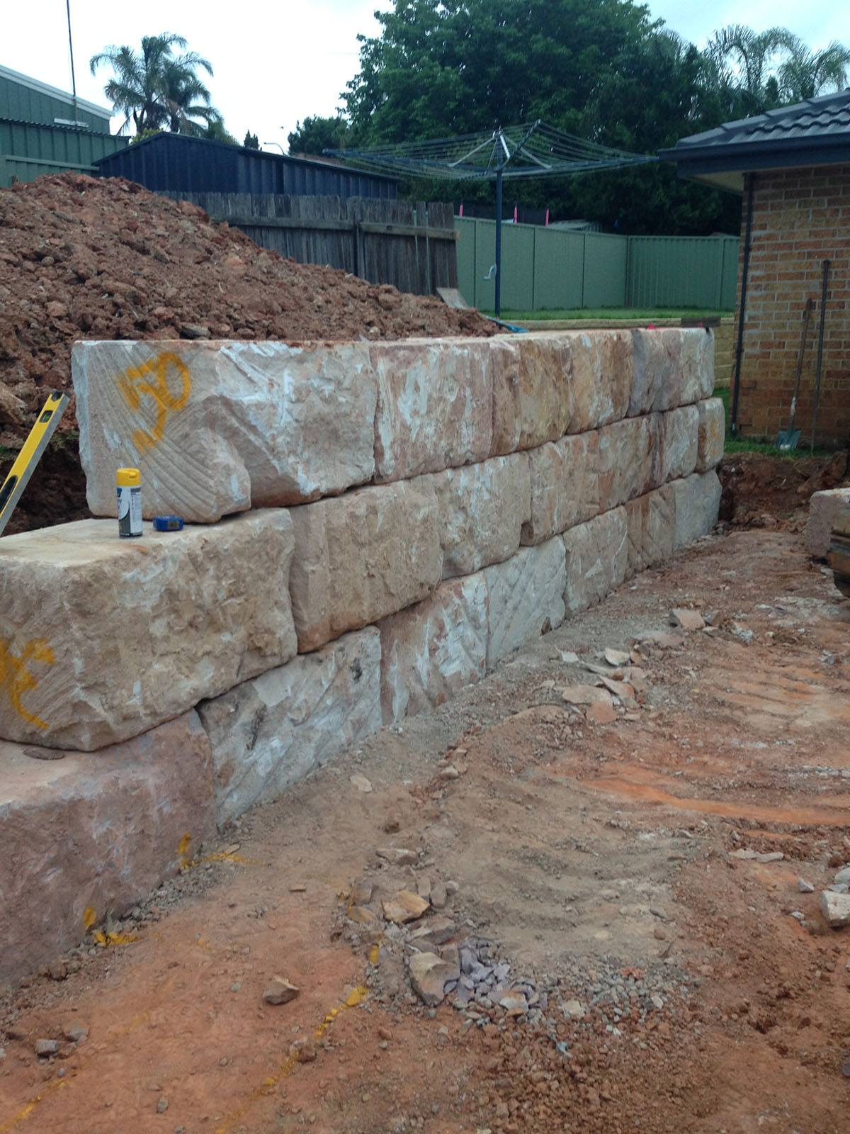 Kennedy Hire - retaining wall