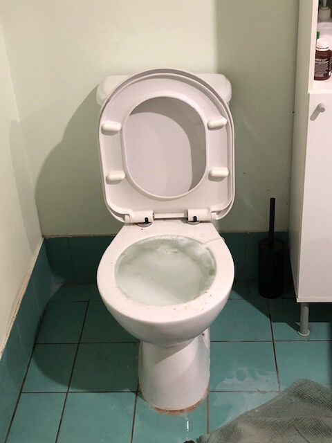 blocked toilet - emergency call out