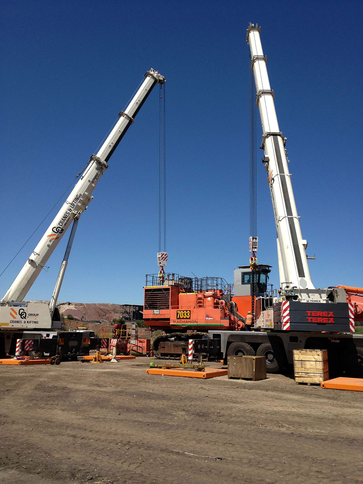Why are cranes used in pile driving