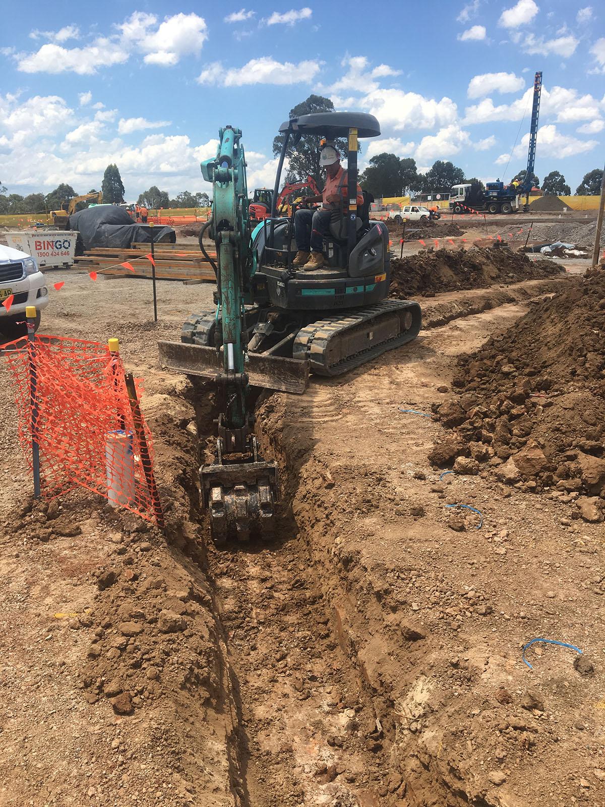 Excavator with Bucket attachment