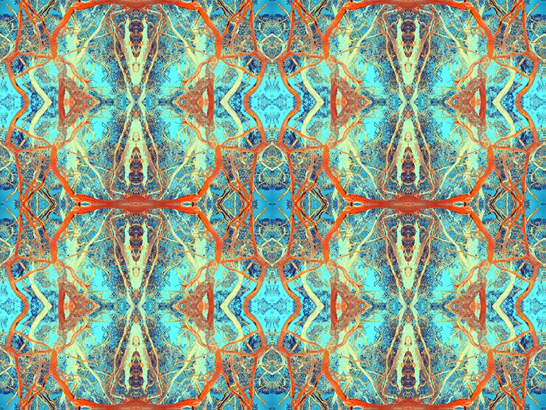 trees nature fractals art glass wallpaper fabrics