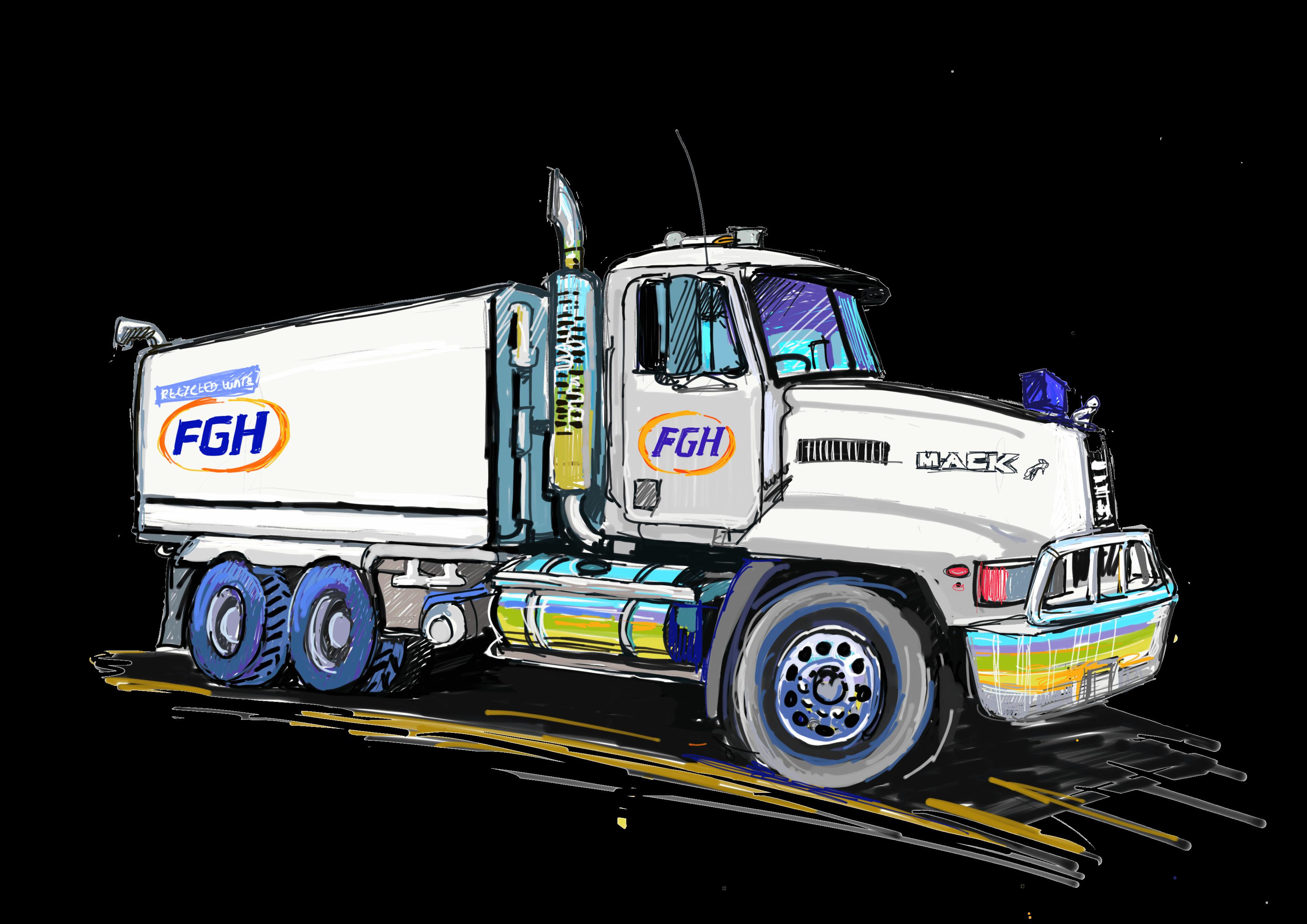 FGH Tipper truck sketch