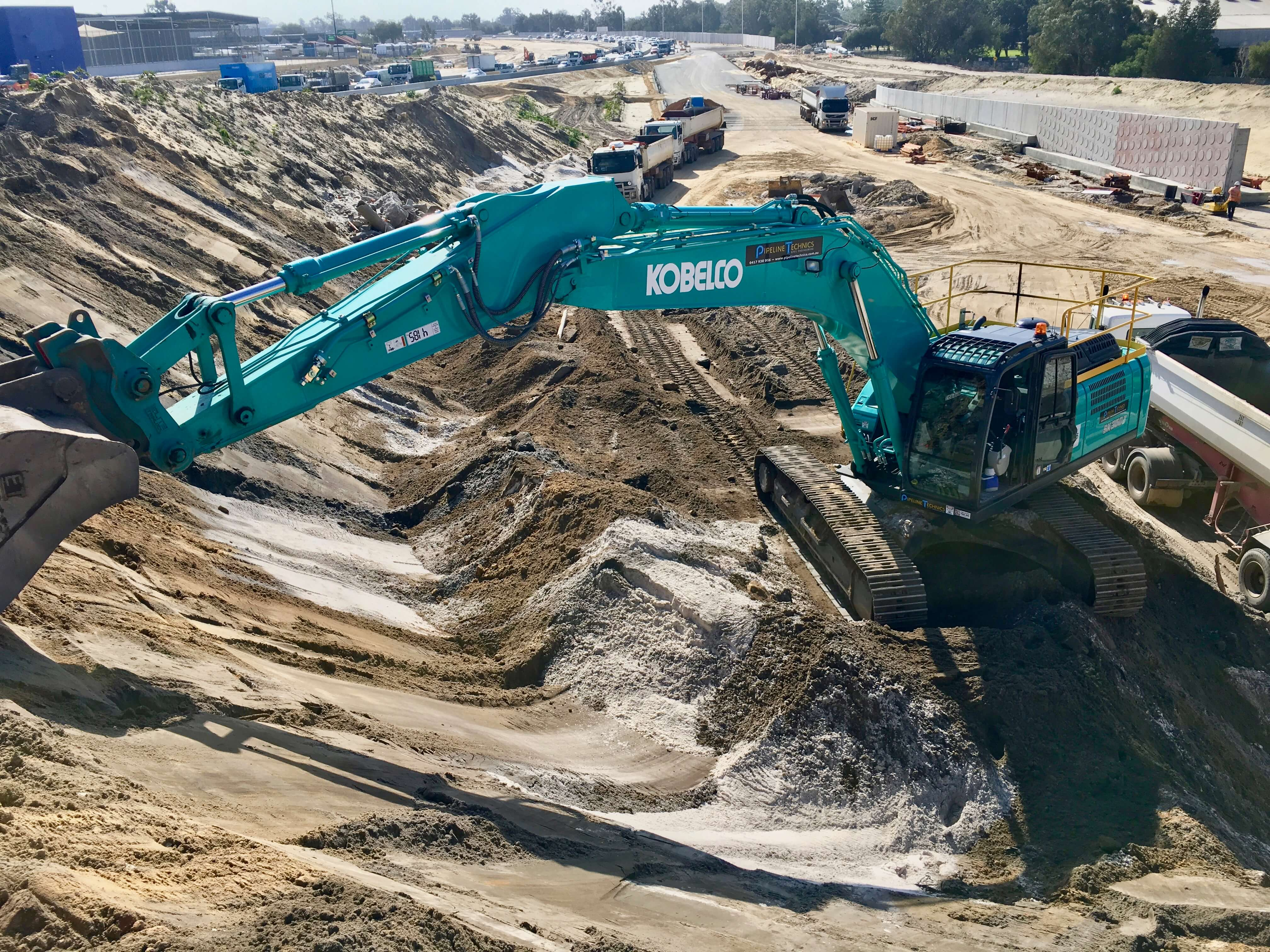 yanmar excavator and compactor enlarge