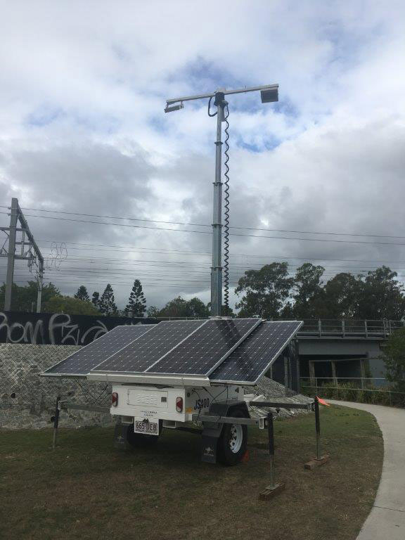 Site Light Rentals Hybrid Solar Light Trailer Hire Brisbane