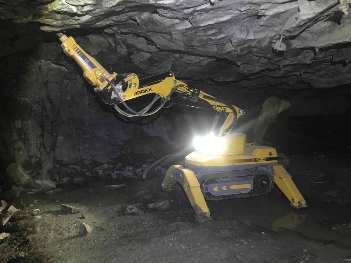 Industry West Brokk Robot in action