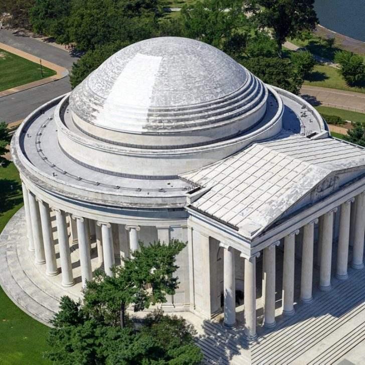 Jefferson Memorial laser cleaning