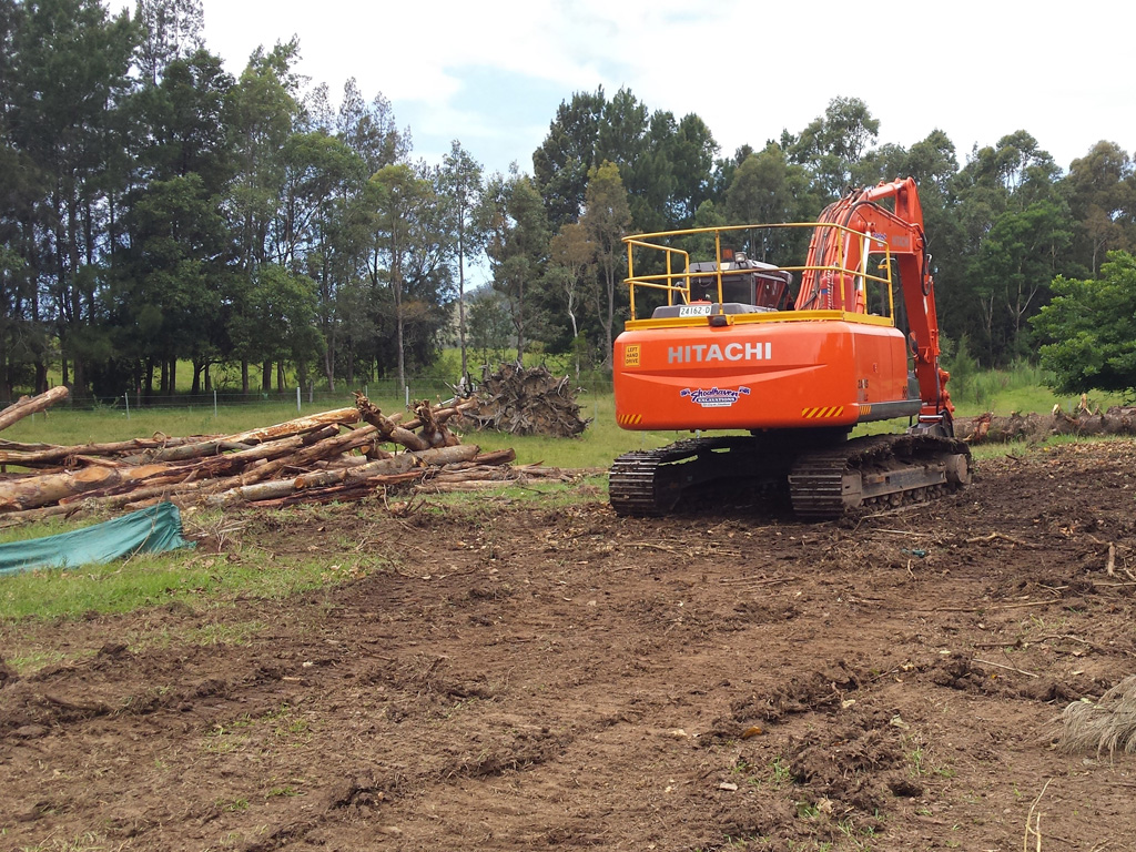Land Clearing Excavator