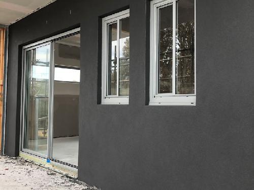Concrete house wall