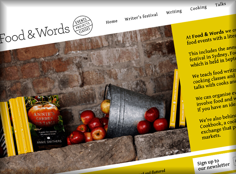 Food and words