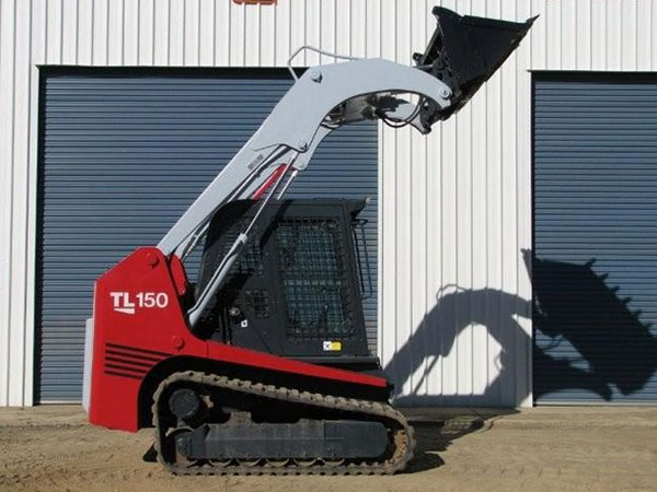 Morooka Rentals Takeuchi TL150 Skid Steer Hire side view with raised arm