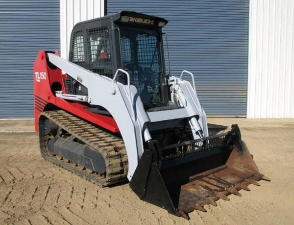 Morooka Rentals Takeuchi TL150 Skid Steer Hire front on view