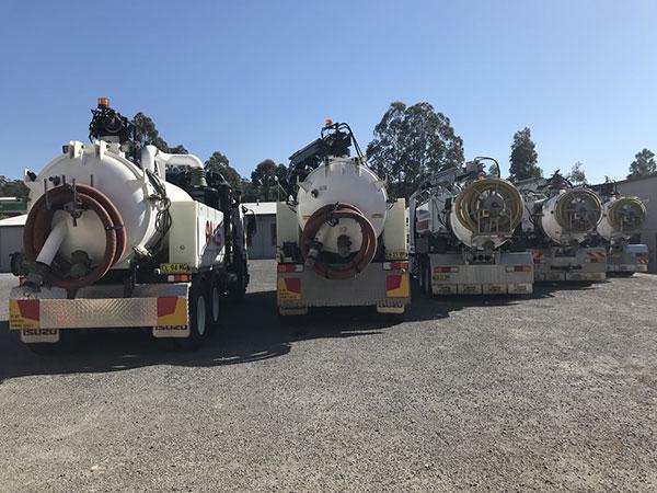 Newcastle-Locating-Services-fleet-of-vacuum-trucks