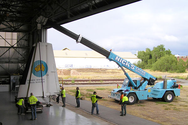 Nicks-Cranes-Services-plane-tail-lift-franna-hire-Adelaide